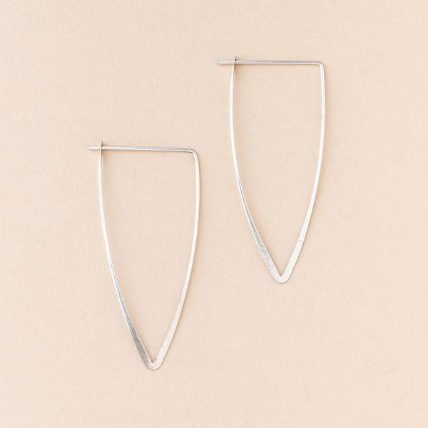 Galaxy Triangle Earrings - Silver