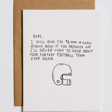 Fantasy Football Greeting Card
