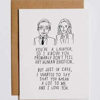 Lawyer Feelings Greeting Card