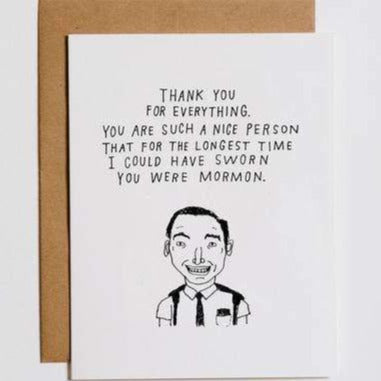 Thought You Were Mormon Card