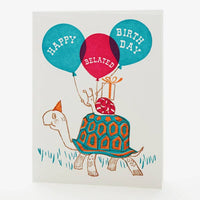 Turtle & Snail Belated Card