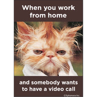 Working Home Video Call Magnet