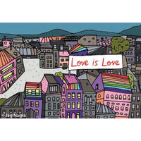 Love Is Love City Magnet