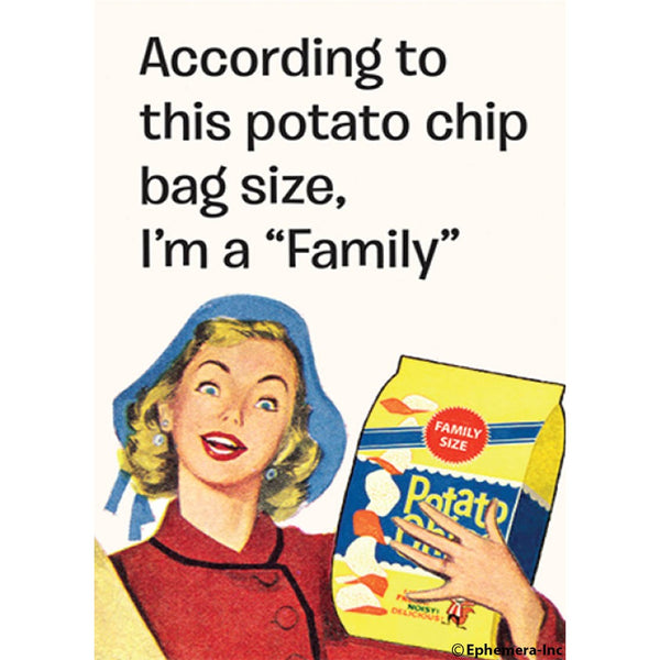 Family Size Potato Chips Magnet