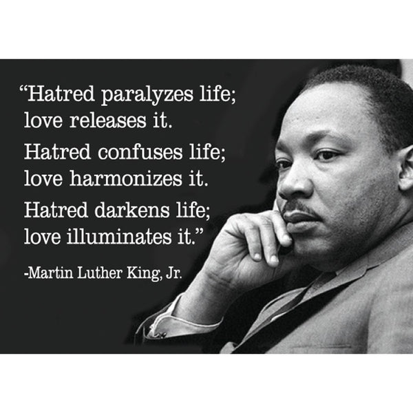 MLK Hatred/Love Quote Magnet