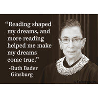 RBG Reading Quote Magnet