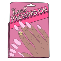 Keep Pressing On Sticker