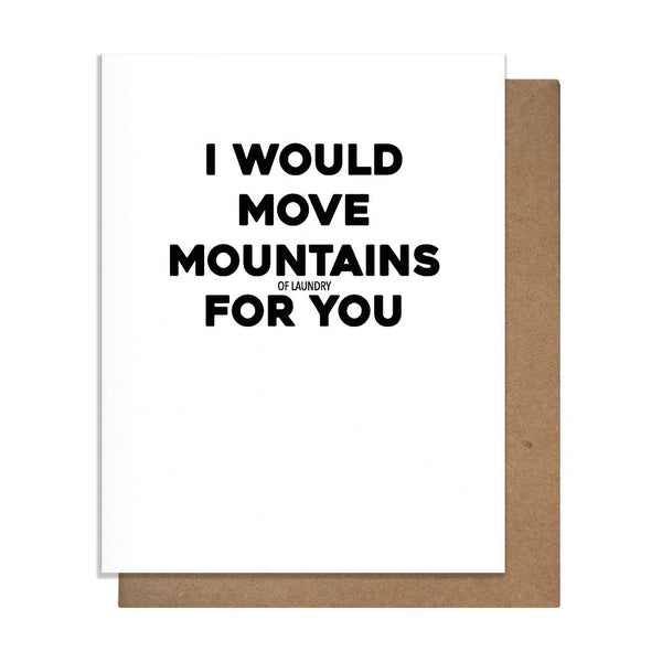 Move Mountains (of Laundry) Card