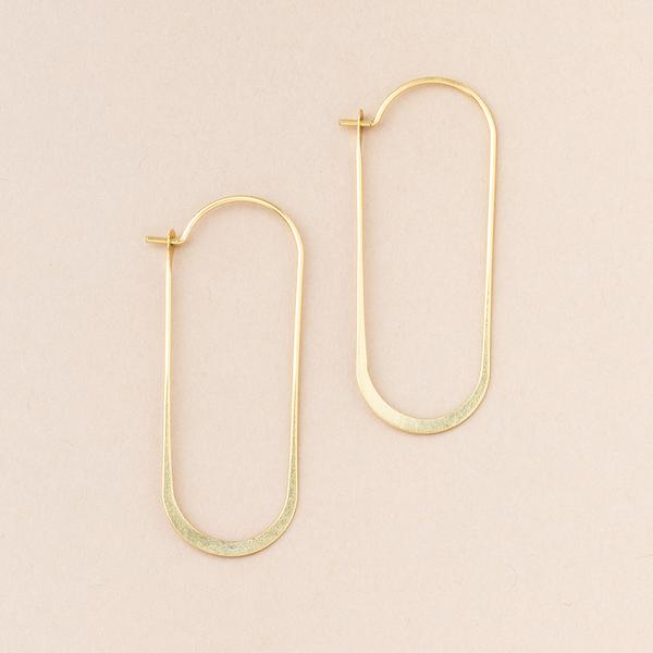 Cosmic Oval Earrings - Gold
