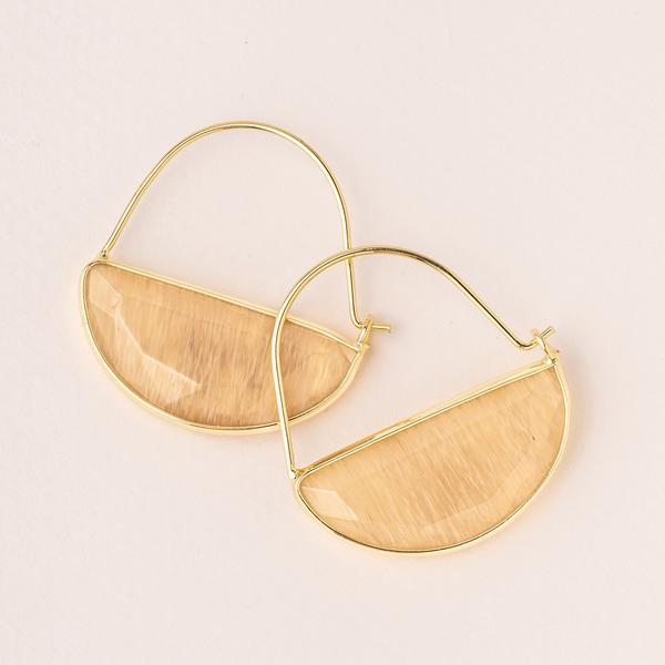 Prism Hoop Earrings - Citrine/Gold