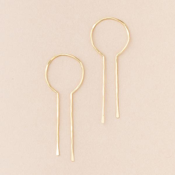 Equinox Keyhole Hoop Earrings - Gold