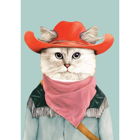Rodeo Cat Card