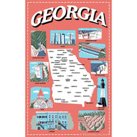 Georgia Icons Dish Towel