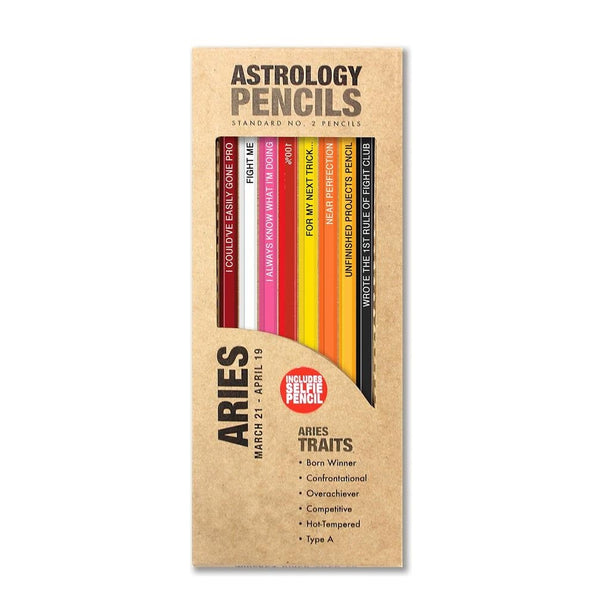 Aries Astrology Pencils
