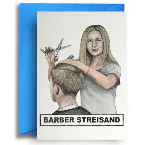 Barber Streisand Card