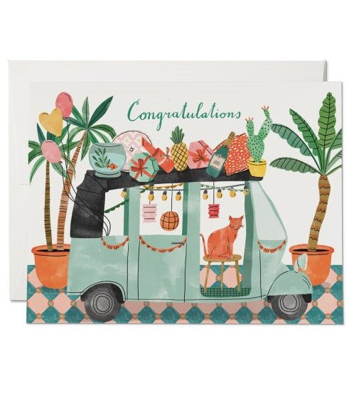 Party Tuk Tuk Congrats Card