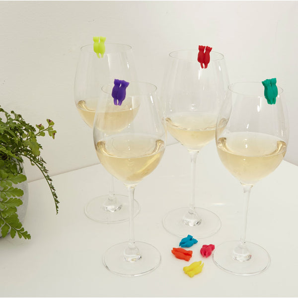 Rainbow Cat Wine Markers