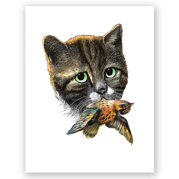Cat & Bird Card