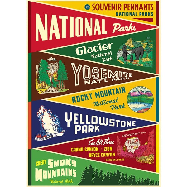 National Parks Pennants Poster
