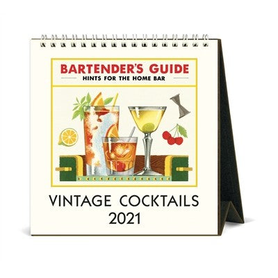 Cocktails desk calendar
