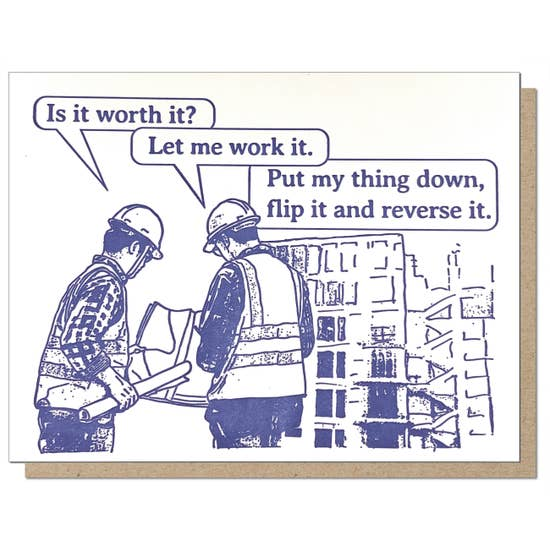 Construction Work It Card