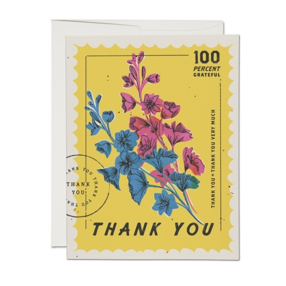 100% Thank You Card