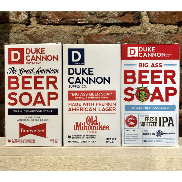 Duke Cannon Beer Soaps