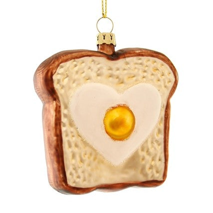 Egg in Toast Ornament