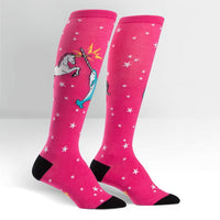 Unicorn vs Narwhal Women's Knee High Socks
