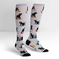 Booked For Meow Women's Knee High Socks