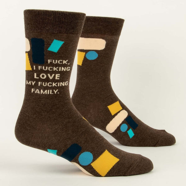 Fuck I Love My Family Men's Crew Sock