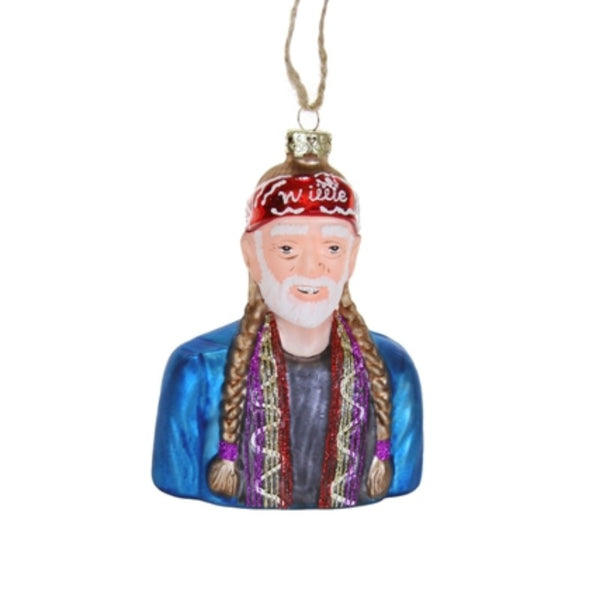 Willie Nelson Bust Ornament