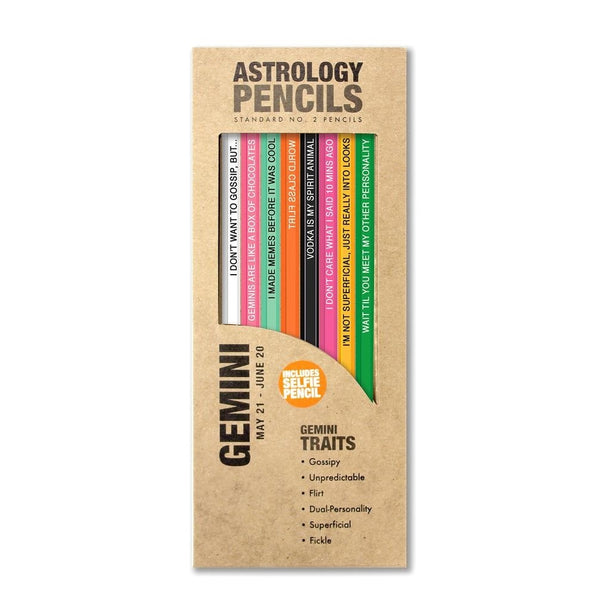 Gemini Astrology Pencils