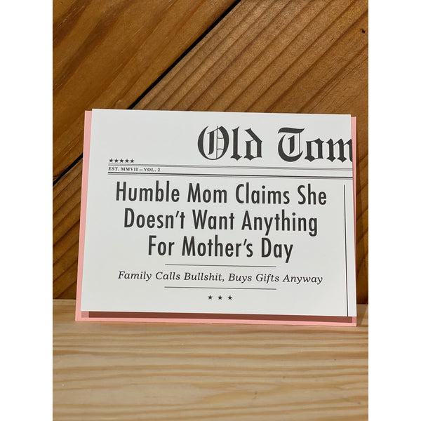 Humble Mom Card