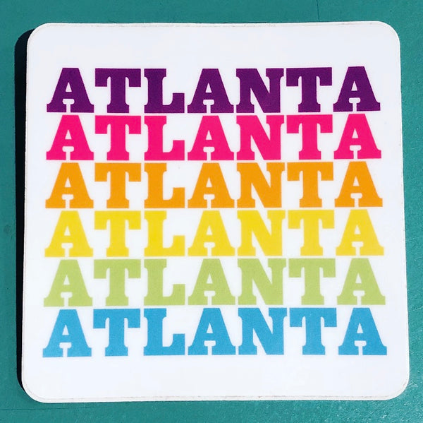 Rainbow Atlanta Sticker