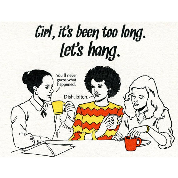 Girl Hang Card