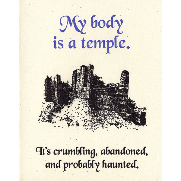 Body Is A Temple Card