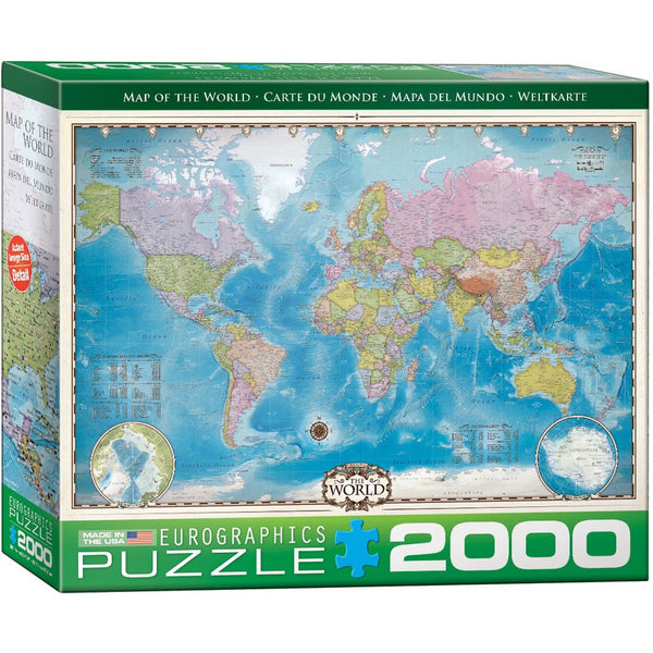 Map of the World Puzzle - 2000 Pieces