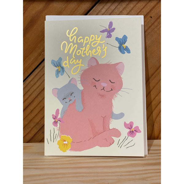 Mother & Baby Cat Card