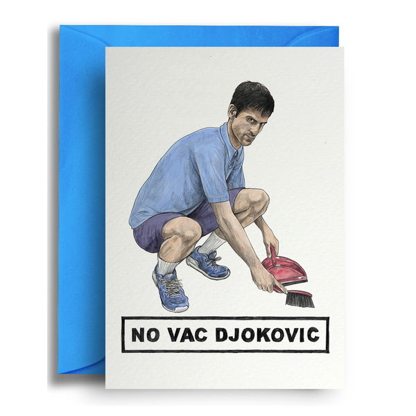 No Vac Djokovic Card