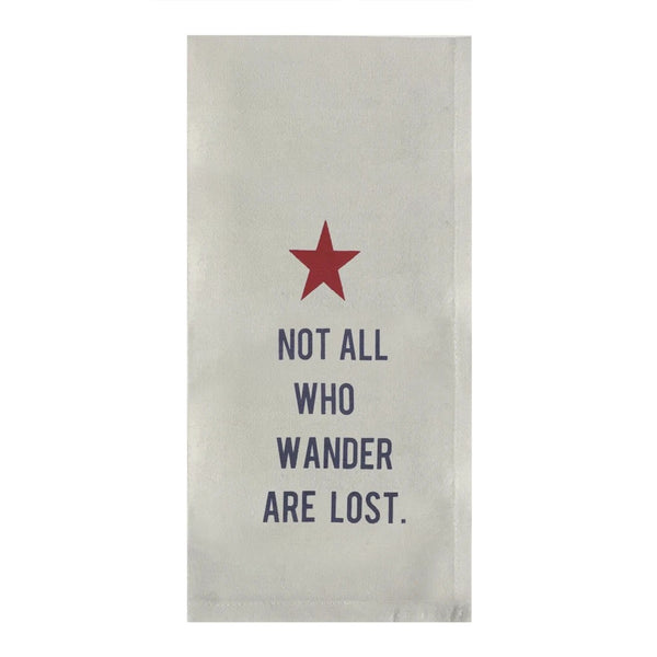 Not All Who Wander Dish Towel