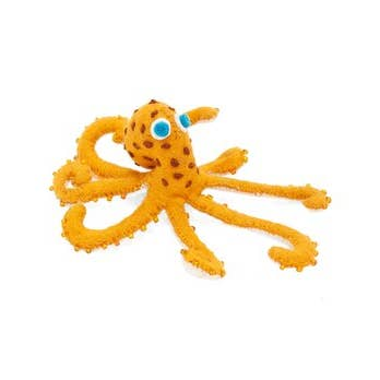 Orange Octopus Ornament