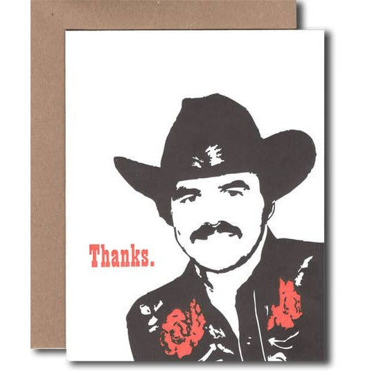 Burt Reynolds Thanks Card