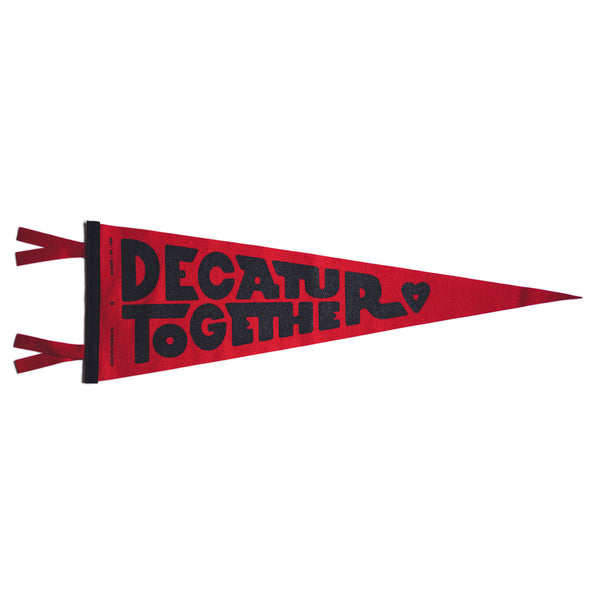 Decatur Together Pennant (Red)