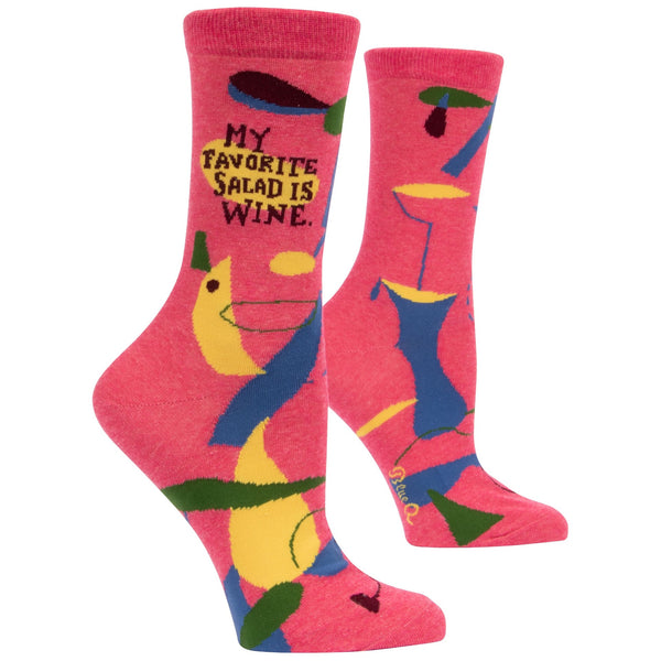 My Favorite Salad is Wine Women's Crew Socks