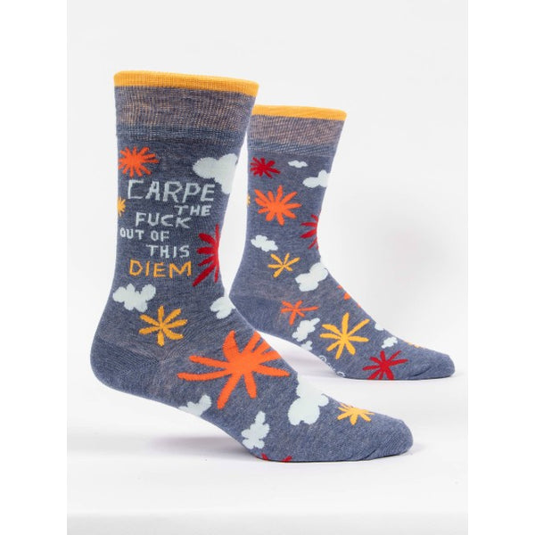 Carpe the Fuck Out of This Diem Men's Crew Socks