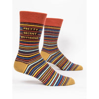 Pretty Decent Boyfriend Men's Crew Socks