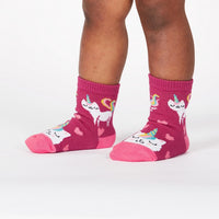 Look At Me Meow Toddler Crew Socks