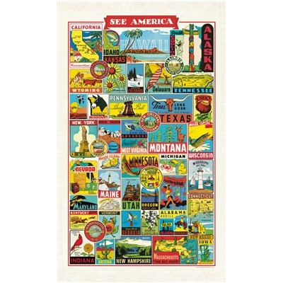 See America Tea Towel