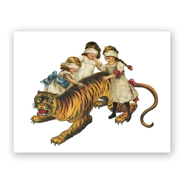 Children and Tiger Card